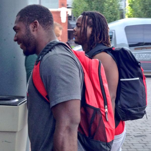 Tyquan Lewis (Foreground) and Tracy Sprinkle arriving.