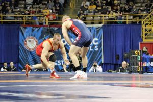 Kyle Snyder vs. Jake Varner, 2016 US Trials.  Photo by Josephine Gartrell
