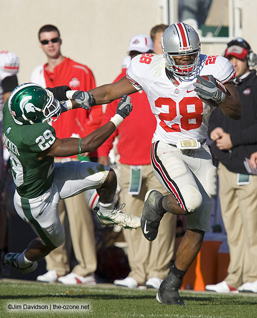 "Chris ""Beanie"" Wells Stiff Arm MSU"