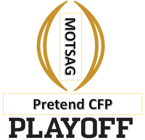 MOTSAG Pretend College Football Playoffs:  #5 Georgia vs. #4 Oklahoma